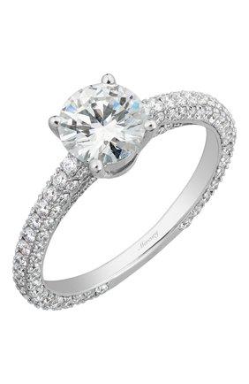 Женские кольцо MERCURY бесцветного цвета, арт. MR100WRDD/1 | Фото 1 (Материал сплава: Белое золото; Драгоценные камни: Бриллианты)