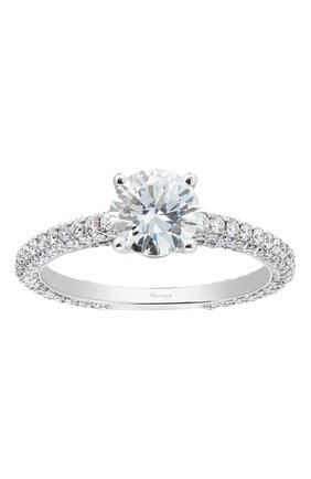 Женские кольцо MERCURY бесцветного цвета, арт. MR100WRDD/1 | Фото 2 (Материал сплава: Белое золото; Драгоценные камни: Бриллианты)