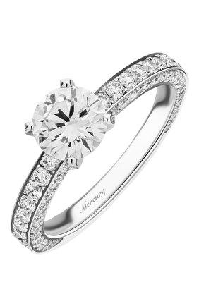 Женские кольцо MERCURY бесцветного цвета, арт. MR100WRDD_1 | Фото 1 (Материал сплава: Белое золото; Драгоценные камни: Бриллианты)