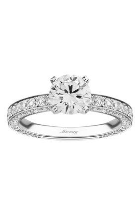 Женские кольцо MERCURY бесцветного цвета, арт. MR100WRDD_1 | Фото 2 (Материал сплава: Белое золото; Драгоценные камни: Бриллианты)