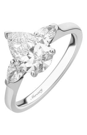Женские кольцо MERCURY бесцветного цвета, арт. MR150WPDP | Фото 1 (Материал сплава: Белое золото; Драгоценные камни: Бриллианты)