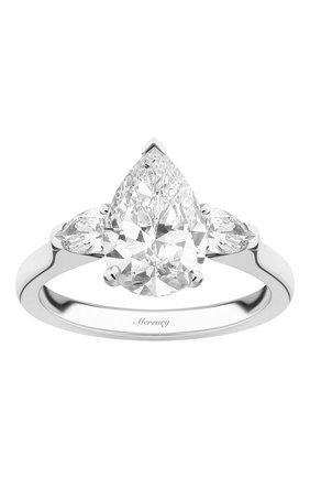 Женские кольцо MERCURY бесцветного цвета, арт. MR150WPDP | Фото 2 (Материал сплава: Белое золото; Драгоценные камни: Бриллианты)