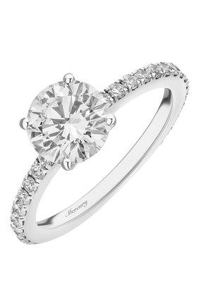 Женские кольцо MERCURY бесцветного цвета, арт. MR150WRD | Фото 1 (Материал сплава: Белое золото; Драгоценные камни: Бриллианты)