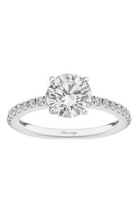 Женские кольцо MERCURY бесцветного цвета, арт. MR150WRD | Фото 2 (Материал сплава: Белое золото; Драгоценные камни: Бриллианты)