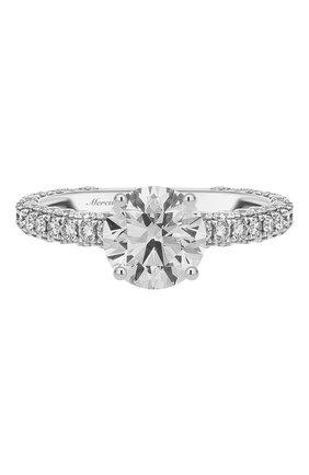 Женские кольцо MERCURY бесцветного цвета, арт. MR150WRDD | Фото 3 (Материал сплава: Белое золото; Драгоценные камни: Бриллианты)