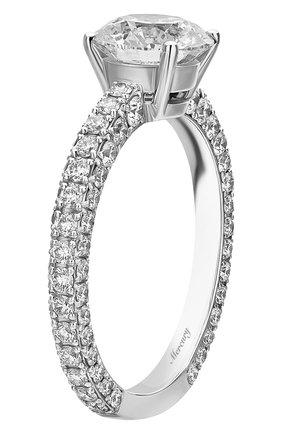 Женские кольцо MERCURY бесцветного цвета, арт. MR150WRDD | Фото 4 (Материал сплава: Белое золото; Драгоценные камни: Бриллианты)