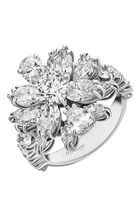 Женские кольцо MERCURY бесцветного цвета, арт. MR18496/WG/FL | Фото 1 (Материал сплава: Белое золото; Драгоценные камни: Бриллианты)