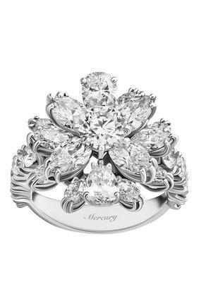 Женские кольцо MERCURY бесцветного цвета, арт. MR18496/WG/FL | Фото 2 (Материал сплава: Белое золото; Драгоценные камни: Бриллианты)