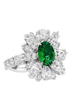 Женские кольцо MERCURY бесцветного цвета, арт. MR18626WE | Фото 1 (Материал сплава: Белое золото; Драгоценные камни: Бриллианты)