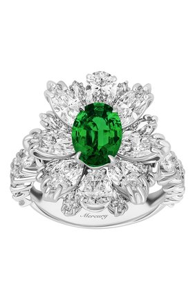 Женские кольцо MERCURY бесцветного цвета, арт. MR18626WE | Фото 2 (Материал сплава: Белое золото; Драгоценные камни: Бриллианты)