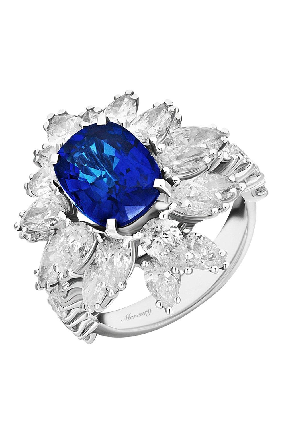 Женские кольцо MERCURY бесцветного цвета, арт. MR19336WS | Фото 1 (Материал сплава: Белое золото; Драгоценные камни: Бриллианты)