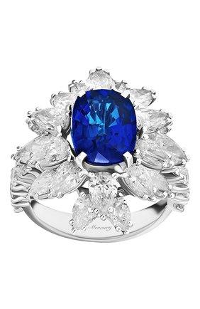 Женские кольцо MERCURY бесцветного цвета, арт. MR19336WS | Фото 2 (Материал сплава: Белое золото; Драгоценные камни: Бриллианты)