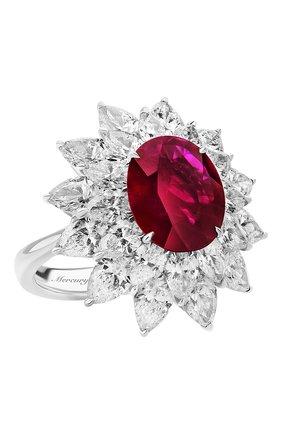 Женские кольцо MERCURY бесцветного цвета, арт. MR19879WR | Фото 1 (Материал сплава: Белое золото; Драгоценные камни: Рубины)