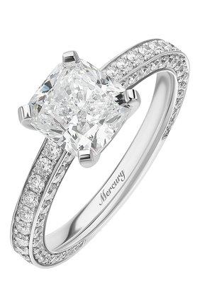 Женские кольцо solitaires MERCURY бесцветного цвета, арт. MR200WCDD | Фото 1 (Материал сплава: Белое золото; Драгоценные камни: Бриллианты)