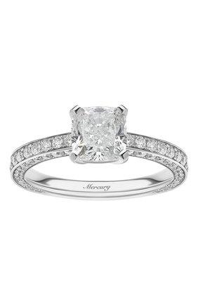 Женские кольцо solitaires MERCURY бесцветного цвета, арт. MR200WCDD | Фото 2 (Материал сплава: Белое золото; Драгоценные камни: Бриллианты)