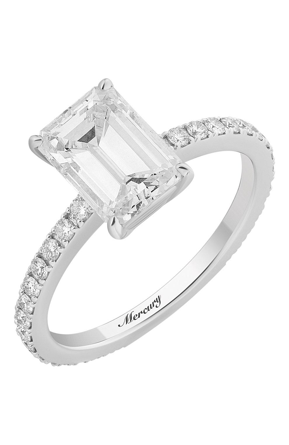 Женские кольцо MERCURY бесцветного цвета, арт. MR200WEDD | Фото 1 (Материал сплава: Белое золото; Драгоценные камни: Бриллианты)