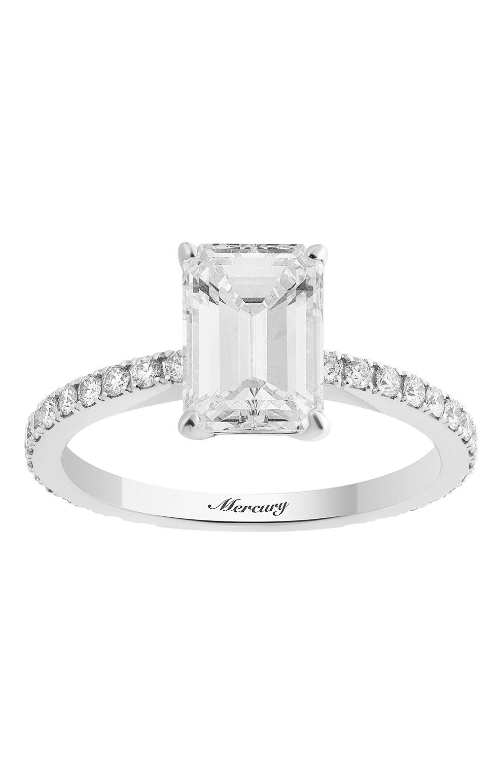 Женские кольцо MERCURY бесцветного цвета, арт. MR200WEDD | Фото 2 (Материал сплава: Белое золото; Драгоценные камни: Бриллианты)