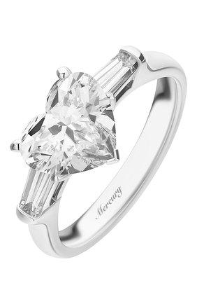 Женские кольцо MERCURY бесцветного цвета, арт. MR200WHDB   Фото 1 (Материал сплава: Белое золото; Драгоценные камни: Бриллианты)