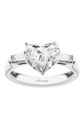 Женские кольцо MERCURY бесцветного цвета, арт. MR200WHDB   Фото 2 (Материал сплава: Белое золото; Драгоценные камни: Бриллианты)