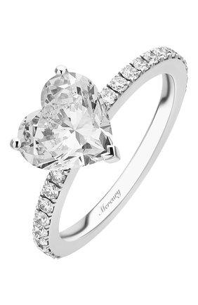 Женские кольцо MERCURY бесцветного цвета, арт. MR200WHDD | Фото 1 (Материал сплава: Белое золото; Драгоценные камни: Бриллианты)