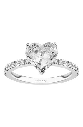 Женские кольцо MERCURY бесцветного цвета, арт. MR200WHDD | Фото 2 (Материал сплава: Белое золото; Драгоценные камни: Бриллианты)