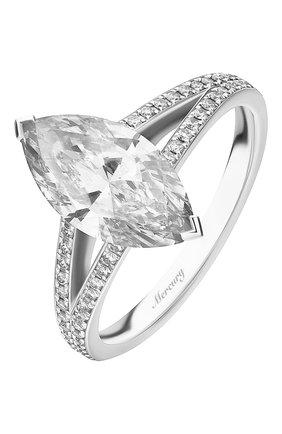 Женские кольцо MERCURY бесцветного цвета, арт. MR200WMDD | Фото 1 (Материал сплава: Белое золото; Драгоценные камни: Бриллианты)