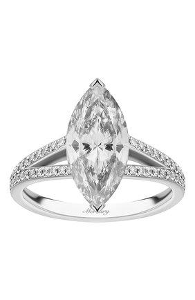 Женские кольцо MERCURY бесцветного цвета, арт. MR200WMDD | Фото 2 (Материал сплава: Белое золото; Драгоценные камни: Бриллианты)