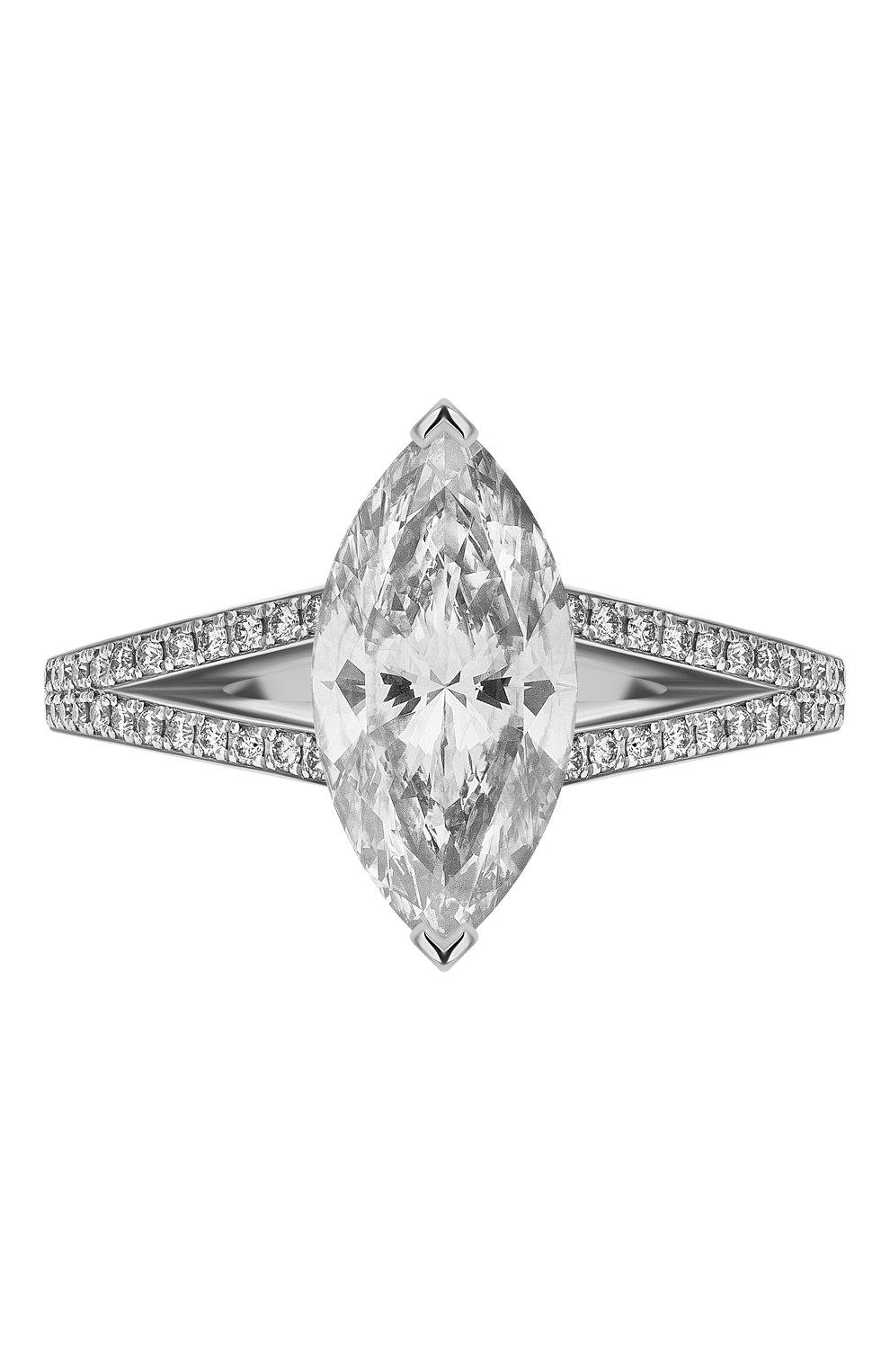 Женские кольцо MERCURY бесцветного цвета, арт. MR200WMDD | Фото 3 (Материал сплава: Белое золото; Драгоценные камни: Бриллианты)