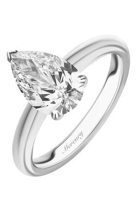 Женские кольцо MERCURY бесцветного цвета, арт. MR200WPD | Фото 1 (Материал сплава: Белое золото; Драгоценные камни: Бриллианты)