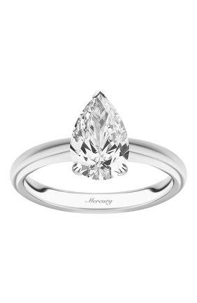 Женские кольцо MERCURY бесцветного цвета, арт. MR200WPD | Фото 2 (Материал сплава: Белое золото; Драгоценные камни: Бриллианты)