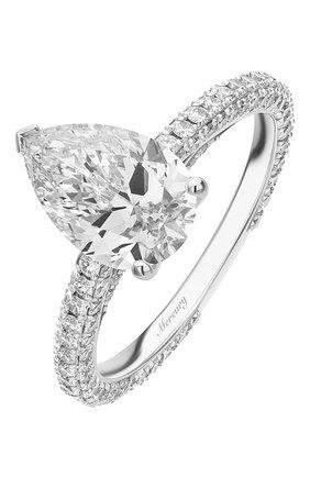 Женские кольцо MERCURY бесцветного цвета, арт. MR200WPDD | Фото 1 (Материал сплава: Белое золото; Драгоценные камни: Бриллианты)
