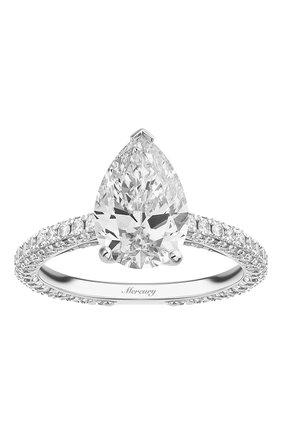 Женские кольцо MERCURY бесцветного цвета, арт. MR200WPDD | Фото 2 (Материал сплава: Белое золото; Драгоценные камни: Бриллианты)