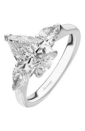 Женские кольцо MERCURY бесцветного цвета, арт. MR200WPDP | Фото 1 (Материал сплава: Белое золото; Драгоценные камни: Бриллианты)
