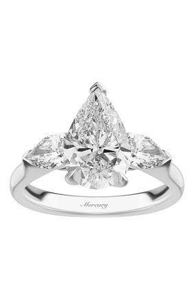 Женские кольцо MERCURY бесцветного цвета, арт. MR200WPDP | Фото 2 (Материал сплава: Белое золото; Драгоценные камни: Бриллианты)