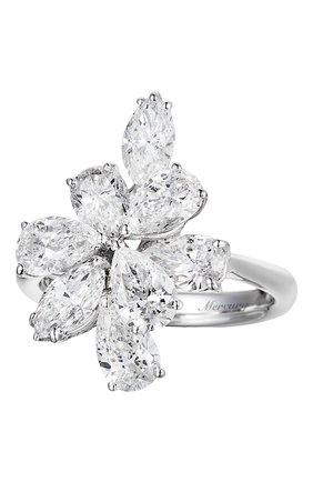 Женские кольцо MERCURY бесцветного цвета, арт. MR20393/WG/CL | Фото 1 (Материал сплава: Белое золото; Драгоценные камни: Бриллианты)