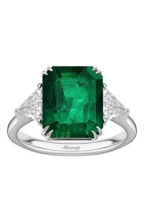 Женские кольцо MERCURY бесцветного цвета, арт. MR20431WET | Фото 2 (Материал сплава: Белое золото; Драгоценные камни: Бриллианты)