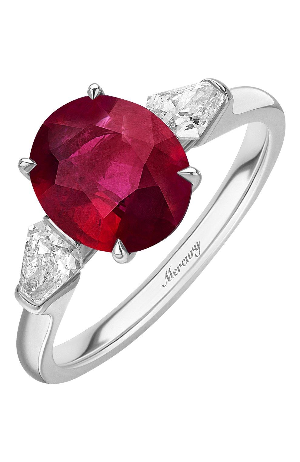 Женские кольцо MERCURY бесцветного цвета, арт. MR23657WRK | Фото 1 (Материал сплава: Белое золото; Драгоценные камни: Бриллианты)