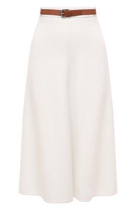 Женская шерстяная юбка RALPH LAUREN кремвого цвета, арт. 293829101 | Фото 1