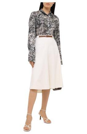 Женская шерстяная юбка RALPH LAUREN кремвого цвета, арт. 293829101 | Фото 2