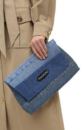 Женская сумка label TOM FORD голубого цвета, арт. L1398T-IDE002 | Фото 2