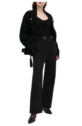 Женское хлопковое боди ATM ANTHONY THOMAS MELILLO черного цвета, арт. AW1397-XA | Фото 2
