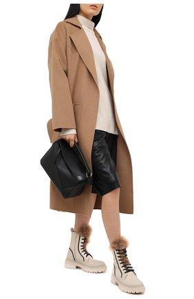 Женские замшевые ботинки BRUNELLO CUCINELLI белого цвета, арт. MZATG1914 | Фото 2