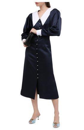 Женские кожаные мюли keira DOLCE & GABBANA голубого цвета, арт. CR1110/AV967 | Фото 2