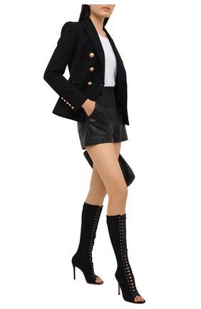 Женские текстильные сапоги GIANVITO ROSSI черного цвета, арт. G50612.15RIC.TWHNER0   Фото 2