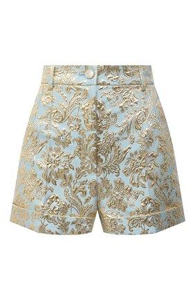 Женские шорты DOLCE & GABBANA голубого цвета, арт. FTBUCT/HJMLB | Фото 1