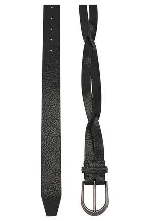 Женский кожаный ремень BRUNELLO CUCINELLI черного цвета, арт. M0JUMC31M | Фото 2 (Материал: Кожа)
