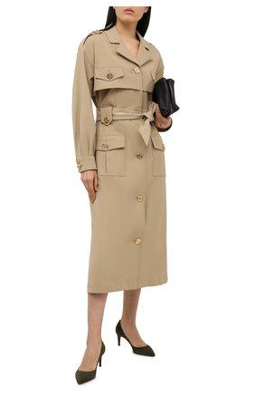 Женские замшевые туфли RALPH LAUREN хаки цвета, арт. 800838027 | Фото 2