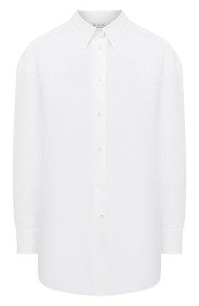 Женская льняная рубашка LORO PIANA белого цвета, арт. FAL5890 | Фото 1