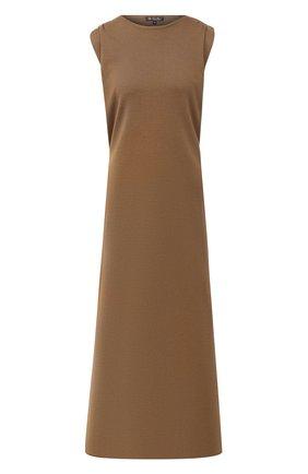Женское шелковое платье LORO PIANA хаки цвета, арт. FAL1035 | Фото 1