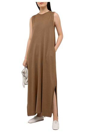 Женское шелковое платье LORO PIANA хаки цвета, арт. FAL1035 | Фото 2